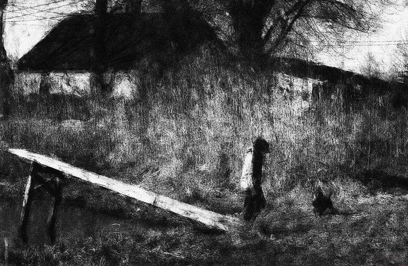 Мальчик с собакой.photo preview