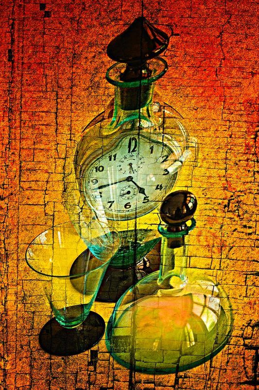 art, clock, color, colors, color image, concept, conceptual, composing, digital, digital art, editing, fine art, glass, green, photography, red, still life, surreal, surrealism, yellow, Tempus Fugitphoto preview
