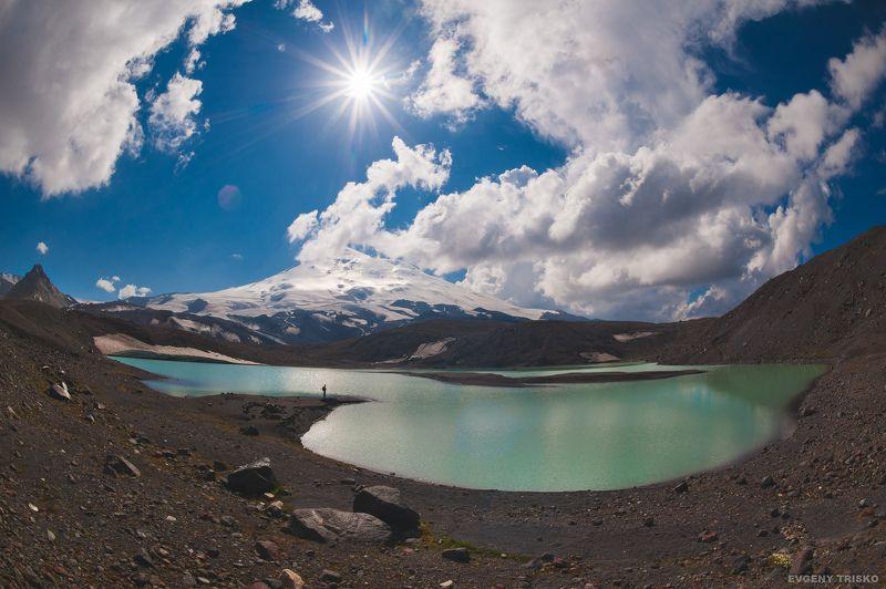 озеро, горы, кавказ, туризм, ночной пейзаж, эльбрус Озеро Северное Бирджалыphoto preview