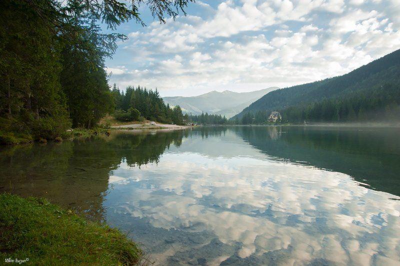 toblacher see, озеро, утро, лето, италия, тироль Toblacher Seephoto preview