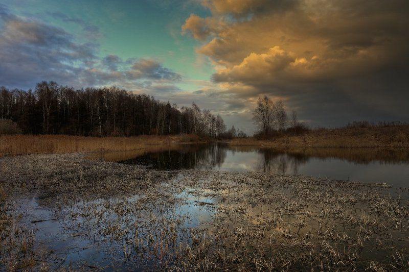 весна,небо Весенняя акварельphoto preview