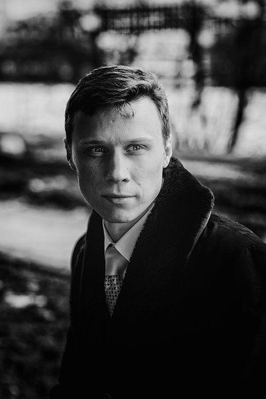мужчина, портрет, улица, весна, лицо, Антонphoto preview