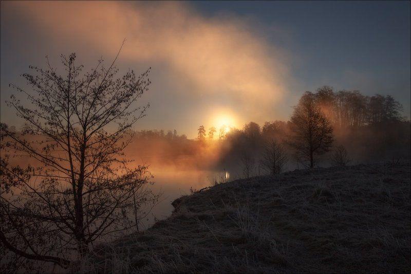 Весна, Вода, Пейзаж, Рассвет, Солнце Весенний рассветphoto preview