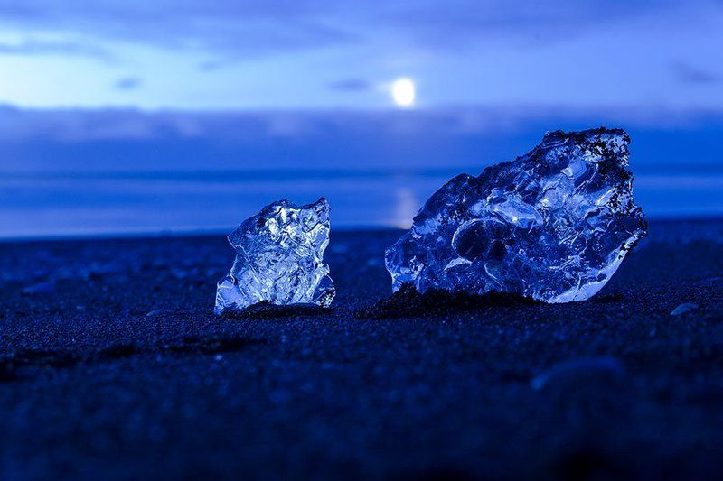 Glacier in the Moonnight -Icelandphoto preview