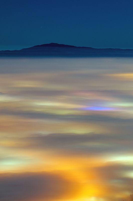 fog, foggy, landscape, mountain, city, light, night, nikon, sky Foggyphoto preview