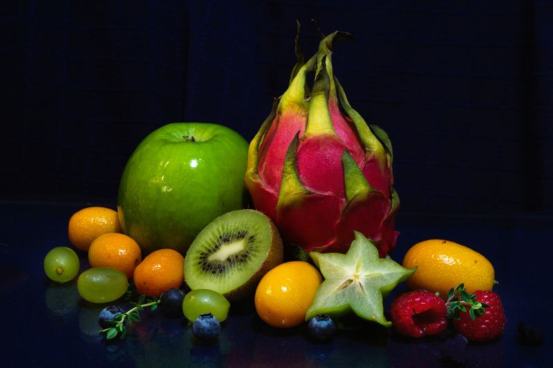 Nature morte with dragon fruitphoto preview