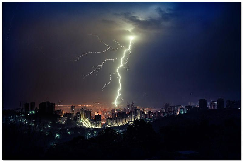 китай чунцинфулин  ,молния пейзажphoto preview