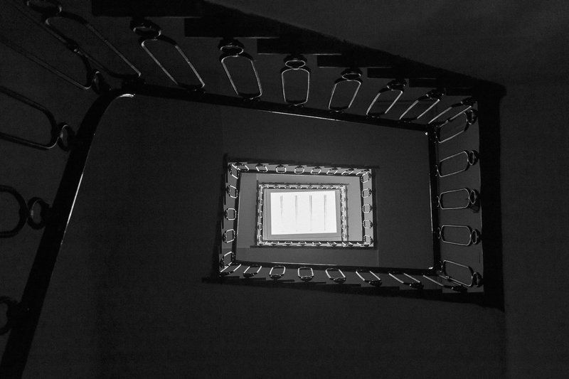 stairway,black and white,window,spiral,minimalism,abstract,light,shadow Door to heavenphoto preview