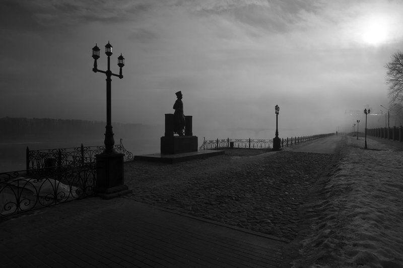 пейзаж тверь ч.б туман пушкин Тверь Пушкинphoto preview