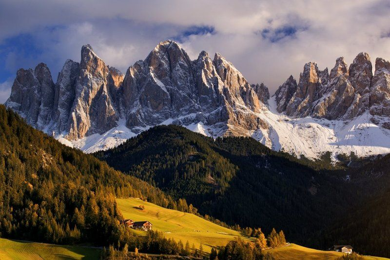 Italy, Dolomites, South Tyrol, Mountains, autumn, snow, clouds DOLOMITESphoto preview