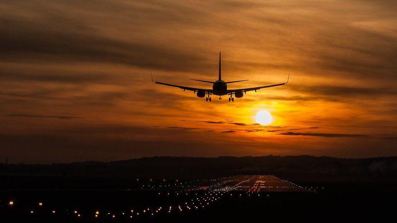 sunset, kraków, poland, airplane, airport Sunsets in Kraków Airport - EPKK/KRKphoto preview