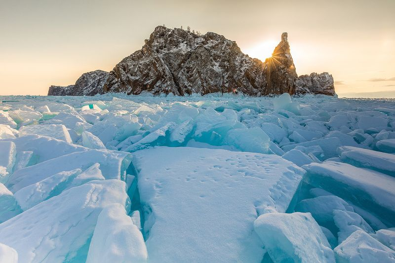 Байкал, лед, Ольхон Льдины мыса Хобойphoto preview