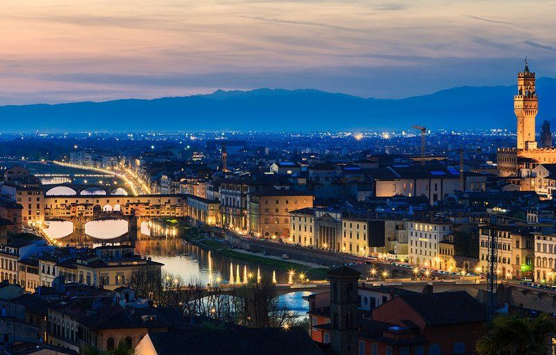 florence,italy,tuscany,city,night,spring,river,bridge,lights,urban,cityscape Night in Florencephoto preview