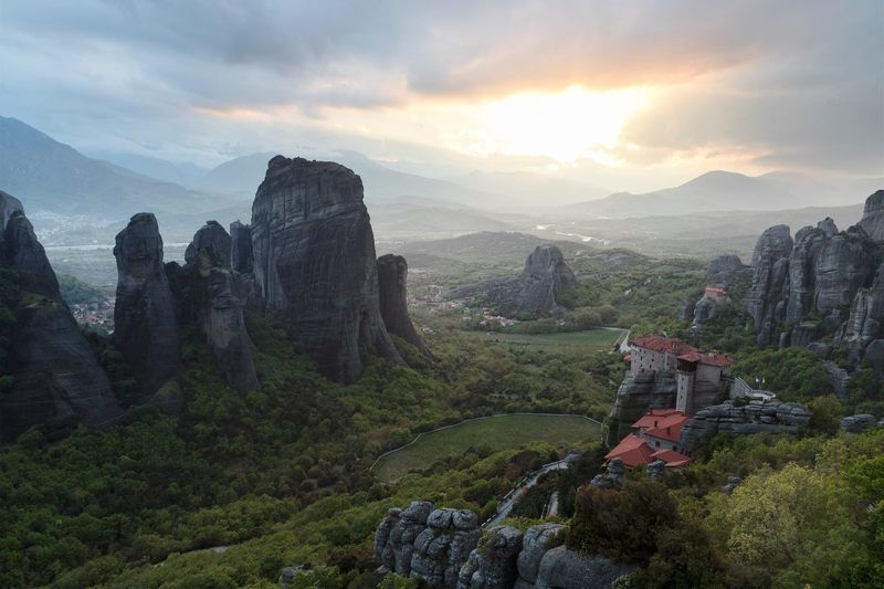 Greece Meteora Греция Метеоры монастырь  347743photo preview