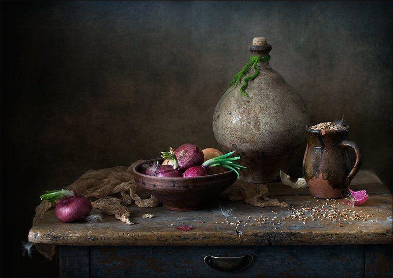 натюрморт, красный лук, сенегальское просо Из того, что было...photo preview