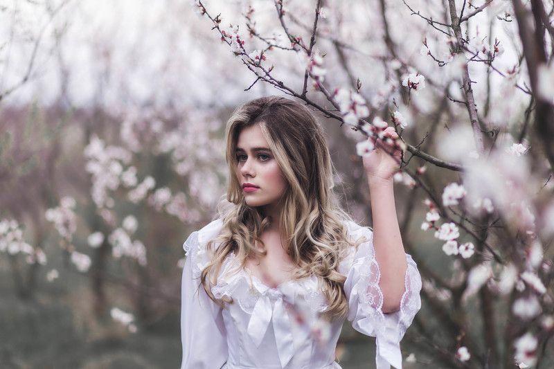девушка, весна, цветы Веснаphoto preview
