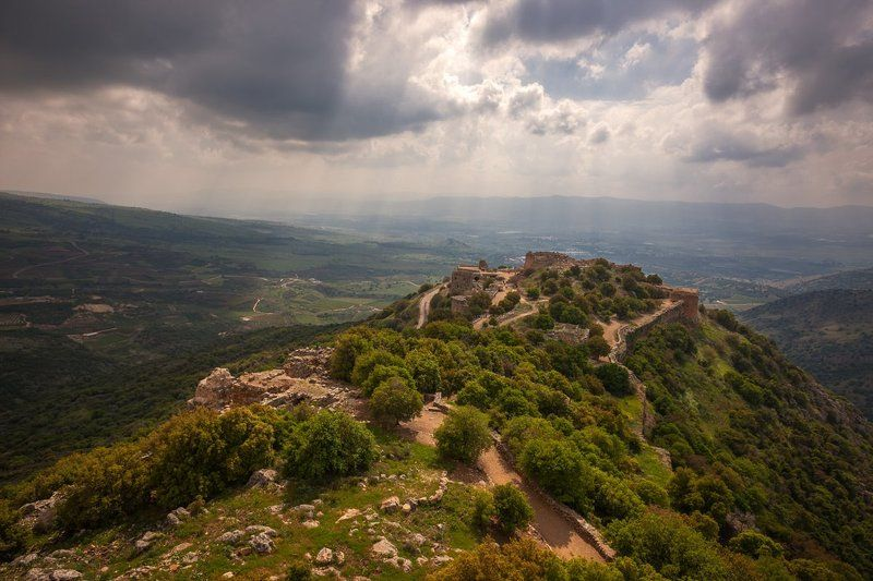 Крепость Нимрод, камни, пейзаж, старый, крепость, крестоносцы, путешествия, израиль, город, гора, небо, облака, арабы, мамлюки, рыцари, форт, бойницы, стрелы, старый город, развалины, замок,  Крепость Нимродphoto preview