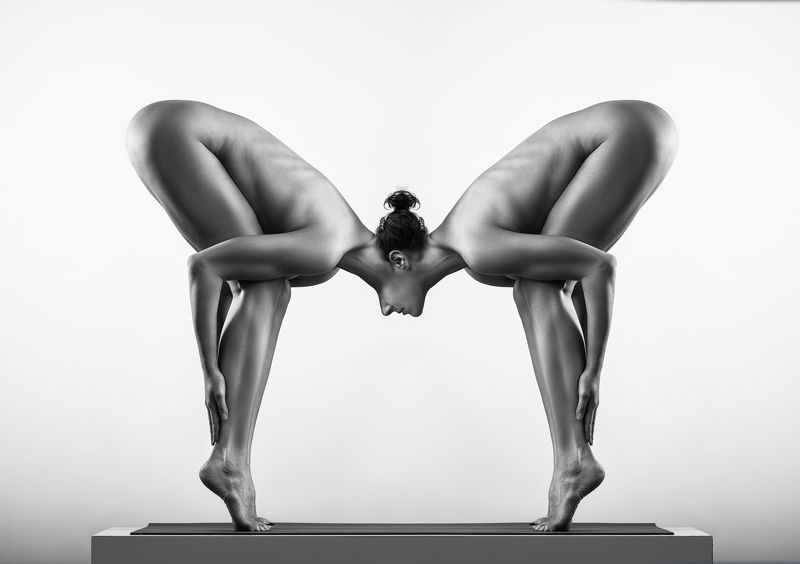 Yoga, nude, fineartnude, BW, nudeart, figure, female SiaMphoto preview