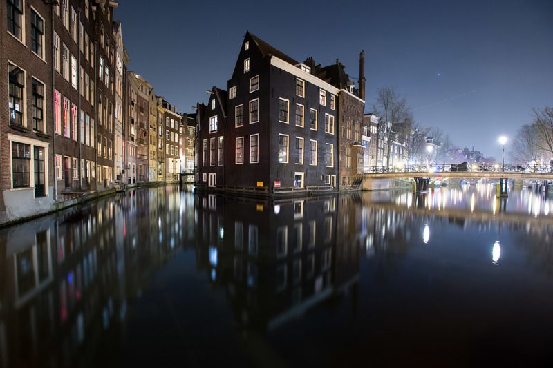 Amsterdam Netherlands night long exposure travelling Holland Амстерда ночь Голландия никон nikon  Амстердам. Ночьphoto preview