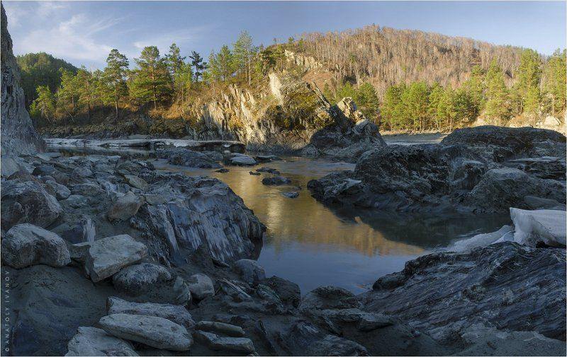 горный алтай, катунь, патмос, чемал Катуньские скалыphoto preview