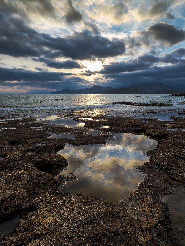Крым, Меганом, черное море, Новый свет, Судак, закат, Crimea После ураганаphoto preview