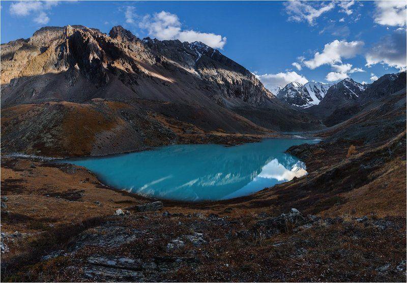 алтай озеро осень золотая горы лиственница вода Озеро Каракабак. Алтай.photo preview