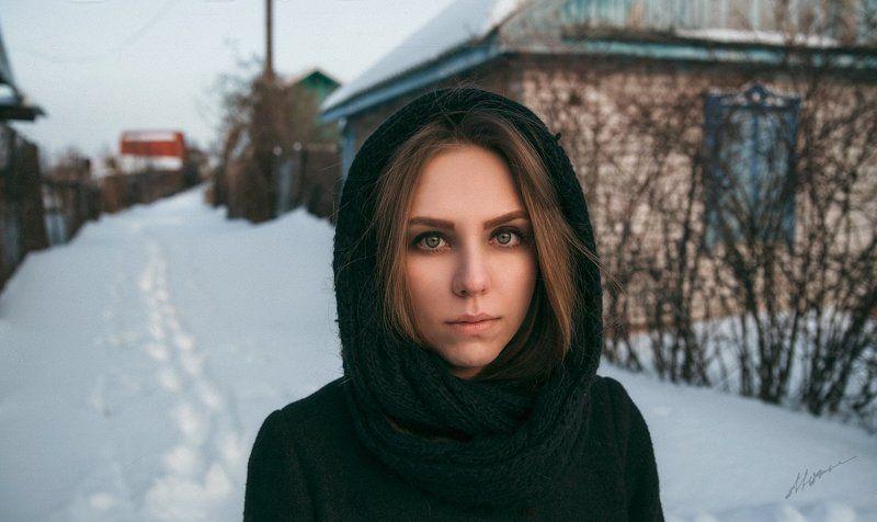 портрет, девушка, снег Julphoto preview