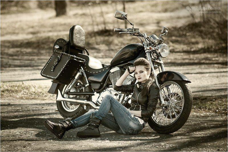 байк байкер байкерша мотоцикл мото Иринаphoto preview