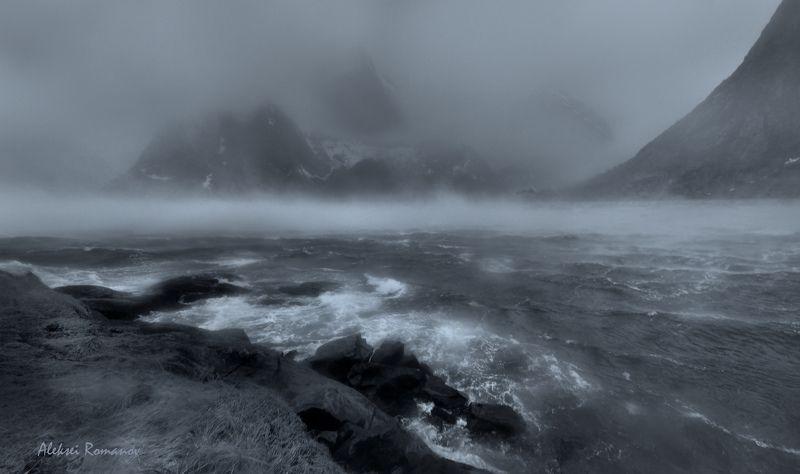 путешествия, норвегия, лофотенские острова, природа, море, шторм, lofoten islands Штормphoto preview