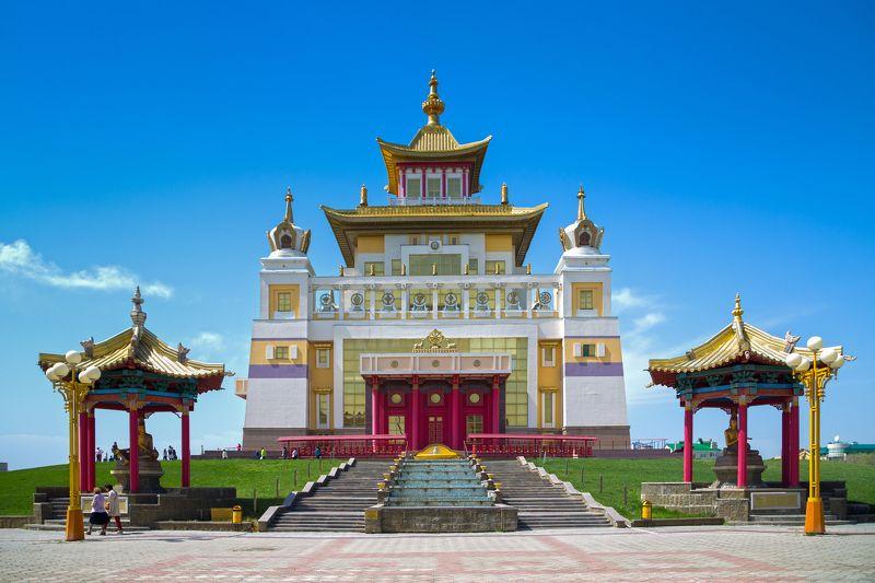 золотая, обитель, будды, шакьямуни Под небом голубымphoto preview