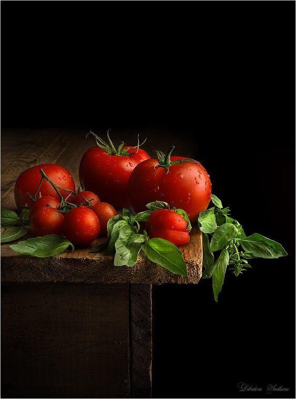 помидоры,овощи,базилик Натюрморт с помидорамиphoto preview
