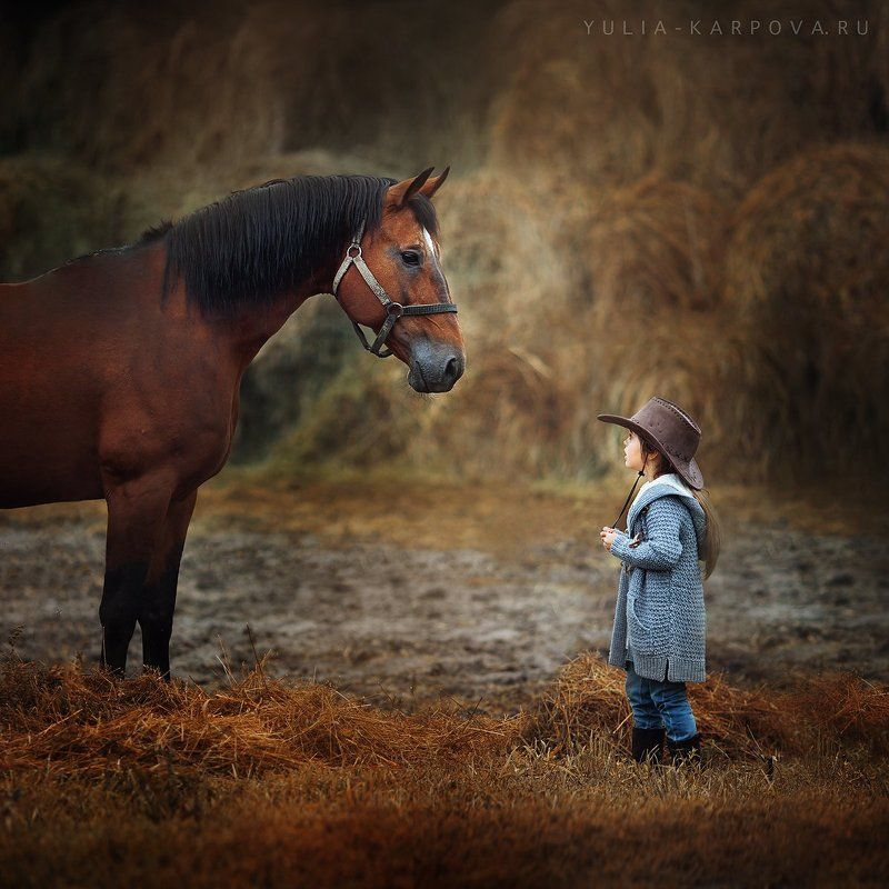 child, kid, childhood, horse, cowboy ***photo preview