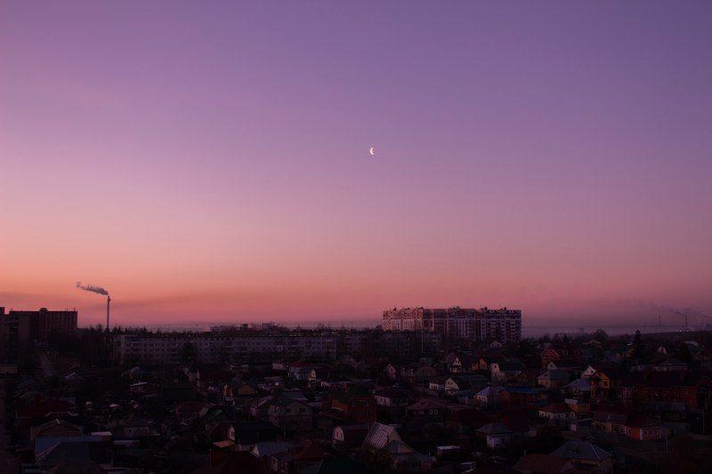 тула, город-герой, пролетарский район, россия, утро, небо, весна, месяц Утренний городphoto preview