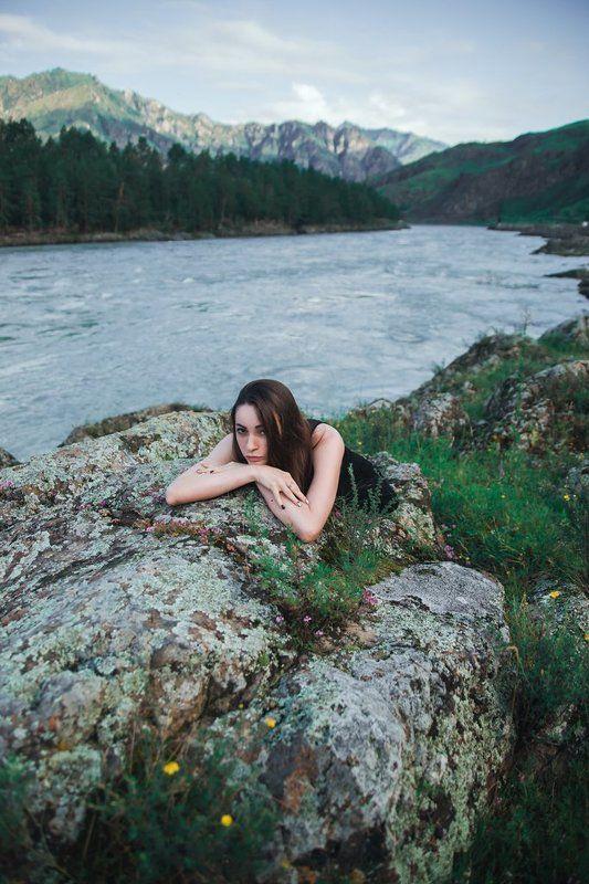 девушка, портрет, горы Death In Junephoto preview