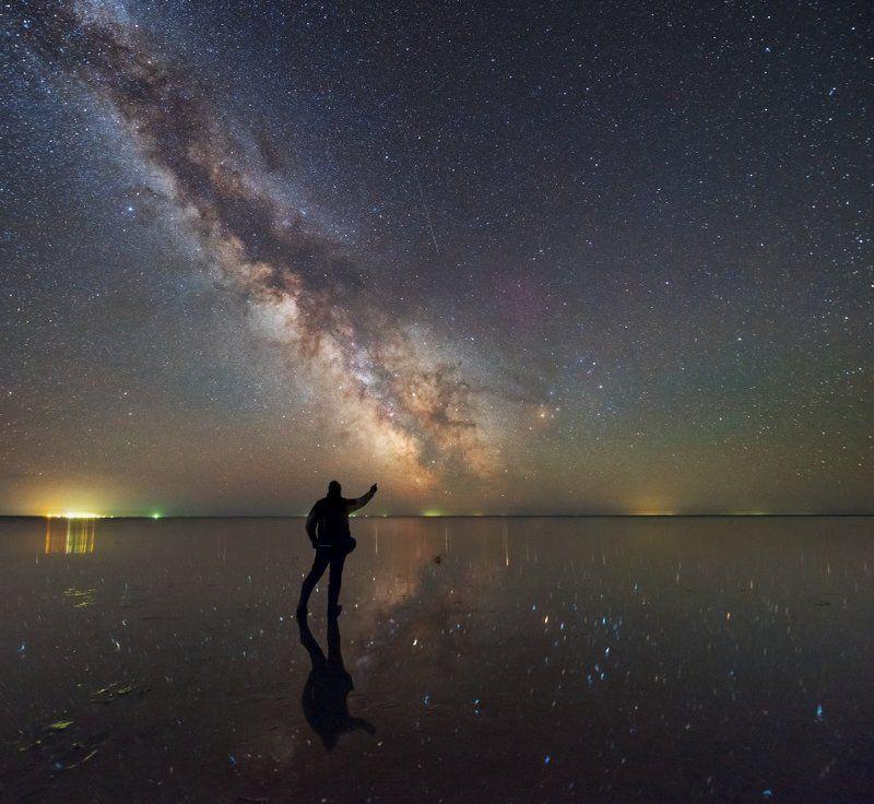 Млечный путь, Эльтон, озеро, Космос Дотянуться до небесphoto preview