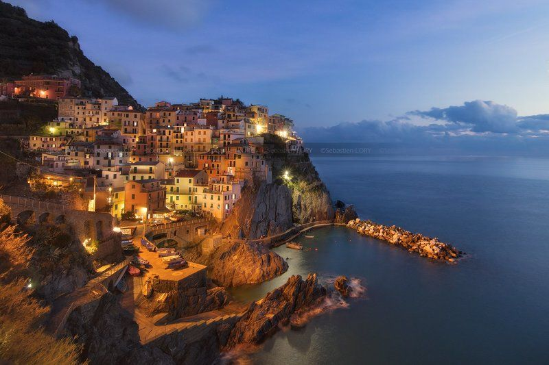 landscape,canon, bluehour, Cinque Terre, Italyphoto preview