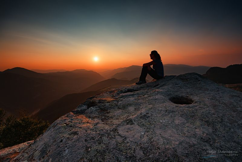 sunset, sun, landscape Silent summer sunset at Belintashphoto preview