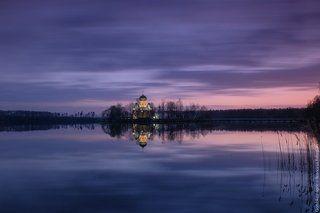 Апрельский вечер на Введенском озере