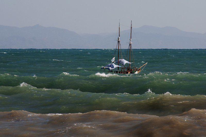 море, шторм, вал, яхта, шхуна, волна Штормphoto preview