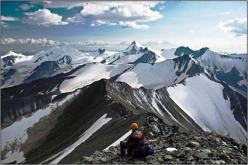 алтай, талдуринский ледник, иикту. Южно-Чуйские Белки.photo preview