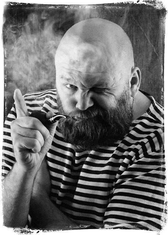 курительная, трубка, тельняшка, моряк Михалыч.. (автопортрет)photo preview