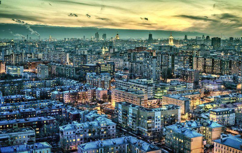 крыша, крыши, город, москва, ночь Кусочек Московской Вселеннойphoto preview