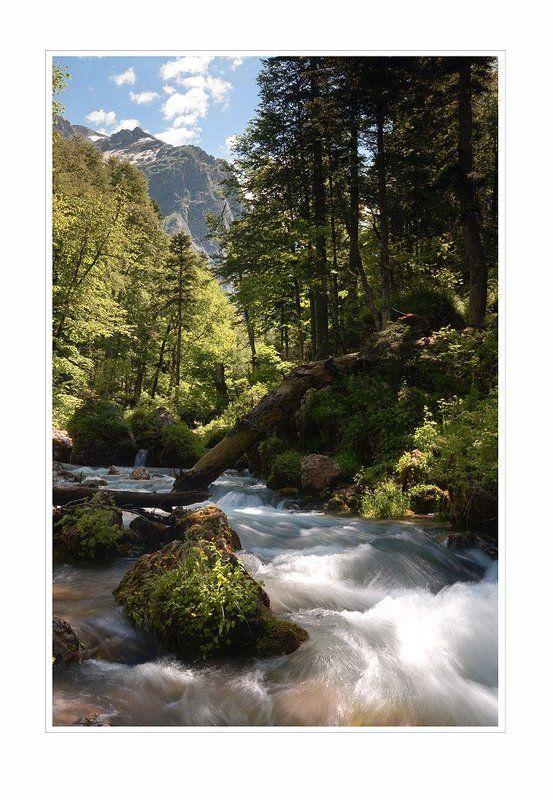 фишт,пшеха,река,водопадистый,горы photo preview