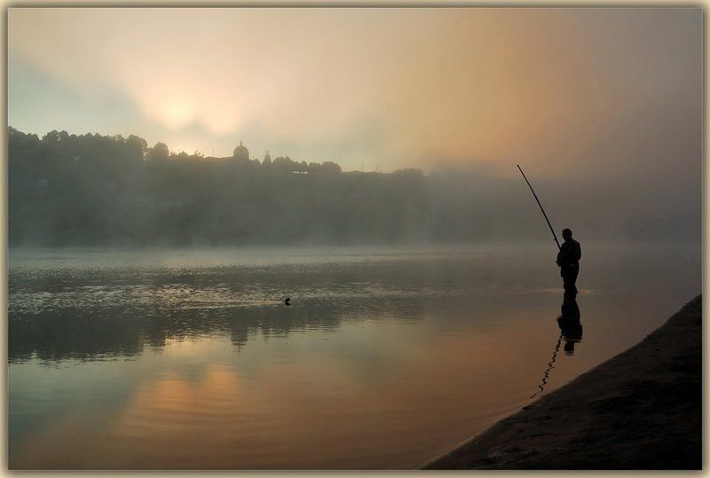Утро +рыбак =?photo preview