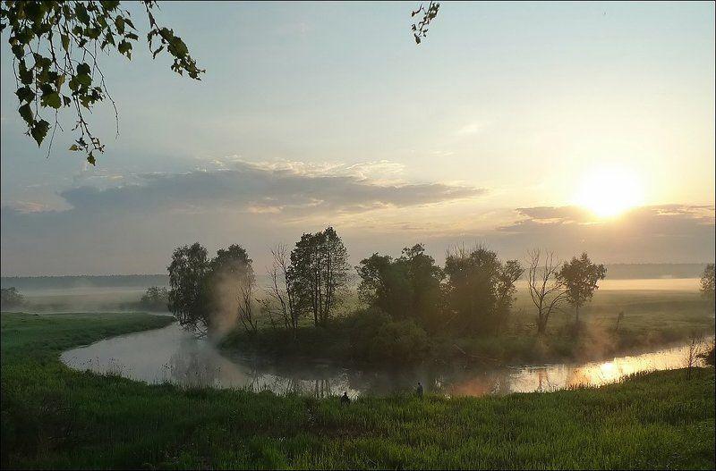 утренняя, зорька, рыбалка Утренняя зорькаphoto preview