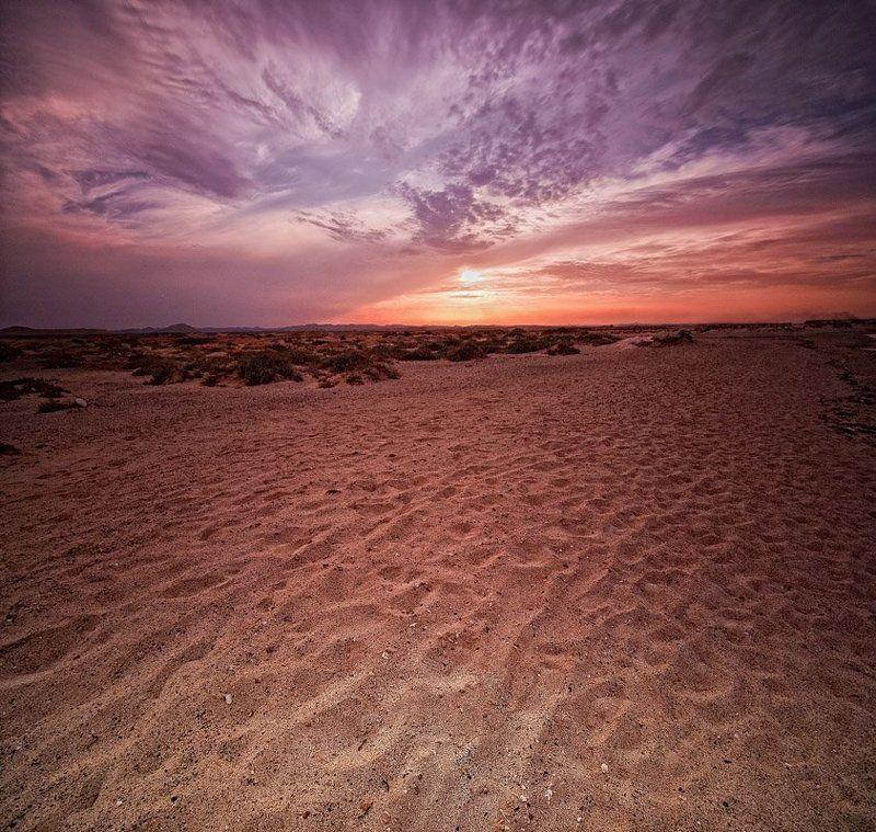 песок, закат -photo preview