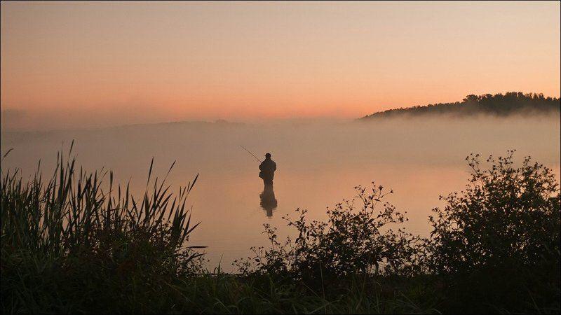 рыбак, медвежьи, озера, туман Рыбакphoto preview