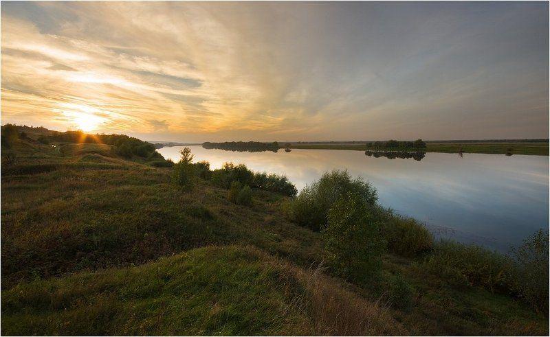 ока, река, закат На закатеphoto preview