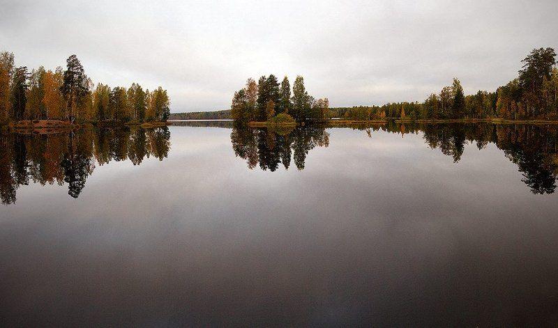 Хмурое утро на Медном озере...photo preview