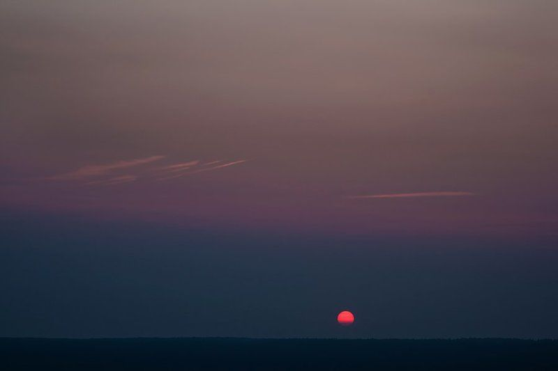пейзаж, закат, небо, минимализм ___*__photo preview